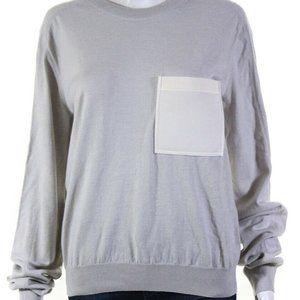 Lanvin Grey Jersey Crewneck Sweatshirt S